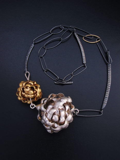 1.silver and gold statement necklace