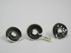 crater stud earrings