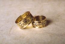 Wedding rings 18ct gold