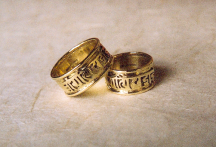 Wedding rings 18ct gold